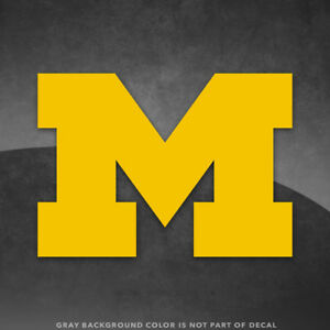 "Michigan Wolverines M  Logo Vinyl Decal Sticker - 4"" and Up - More Colors!"