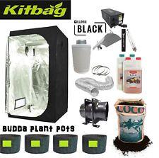 Canna Complete Hydroponic Grow Room Tent Fan Filter Light Kit 400w 120x120x200
