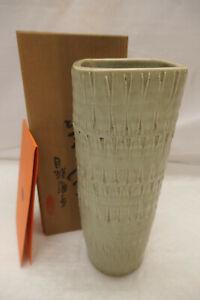 Vintage Handmade Pottery Ikebana Vase Signed Collectable Japanese #21
