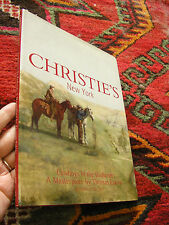 Christie's New York Auction Catalog Hard cover Cowboys Badlands Thomas Eakins