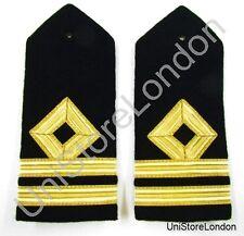 épaulette Merchant bleu marine seconde Officer - Mate Hard courbé A16 R954