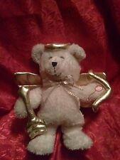 """Dan Dee  LOVE Gift 10""""  Cupid Bear DANCING """"My Girl"""" Song Music Plush Gold Wings"""