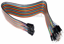 40PCS Dupont Wire Color Jumper Cable2.54mm 1P-1P Male to Female For Arduino 20CM