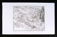 1859 Duvotenay Map Bautzen Battlefield Germany Napoleon