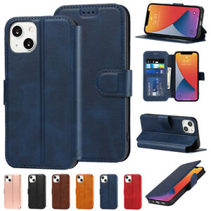 For iPhone 13 12 11 Pro Max XS XR 8 7 Shockproof Leather Wallet Flip Case Cover