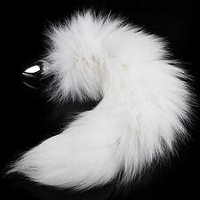 KissyBody Wild Stainless Steel Imitation White Imitation Fox's Tail Butt Sex