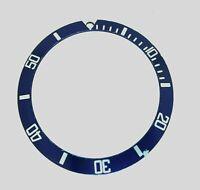 Fat Font Steel & Blue Rolex Submariner Bezel Watch Insert Part 16610a 16800