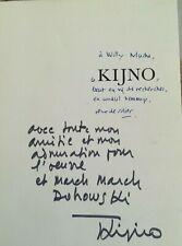 KIJNO envoi à Willy MUCHA - 1972 - sur ouvrage Kijno par René de solier