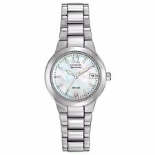 Citizen Eco-Drive Women's EW1670-59D Mother of Pearl Dial Silver-Tone 26mm Watch