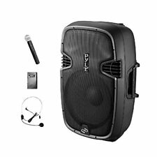 """Pyle 10"""" Compact Portable PA System 1000-Watt Active Speaker (PPHP109WMU)"""
