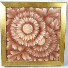 C1890s American Encaustic Tiling Company Majolica Tile - Relief Flower