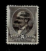 US 1882 Sc# 205  5 c JAMES A. GARFIELD Used - Centered - Crisp Color