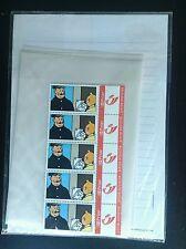 Papier à lettre avec enveloppe et timbres  Tintin 2004 ETAT NEUF sous cello