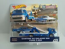 Hot Wheels Team Transport Ford Galaxie 500 & C800 Truck Car Culture Real Riders