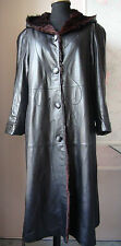 Ledermantel Pelz Mantel 46 Leather Coat Fur Lining FABIANI L