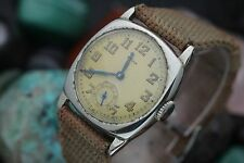Vintage CYMA By TACY Watch Co. 6 Jewel Cal. 370 Cushion Military Trench Watch