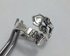 STERLING Demitasse Spoon RING, GEORG JENSEN, ACORN 1915, Jewelry  (bin #114)