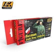 AK Interactive ACRYLIC PAINT SET GERMAN FIELD GREY UNIFORMS (set of 6)