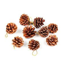 Pack 9pcs Pinecones Christmas Cones Tree Hanging Ornament XMAS DECORATION 4.5 cm