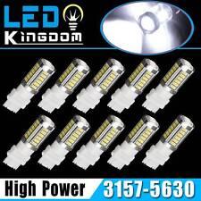 10x Pure White 3157 3156 5630 33-SMD LED Backup Reverse Tail Brake Stop Lights
