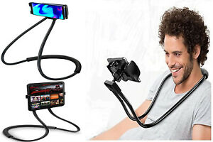 Universal Lazy Neck Mobile Phone Holder 360° Flexible Hanging Bed Mount Necklace