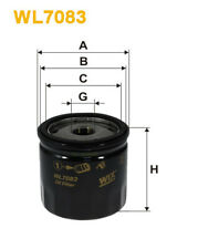 Wix WL7083 Car Oil Filter - Spin-On Replaces W71216 PH5752 OC243