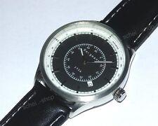 Herren Armbanduhr - Bergmann 1958 - Sammleruhr - PU-Lederarmband - Datum - u