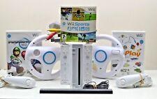 Nintendo Wii Console w/ 15 games, inc Mario Kart, 2 Remotes & 2 Nunchucks