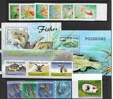 FISH/Marine life various sets issue Mini Sheets mainly MINT NH