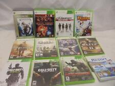 LOT of 12 EMPTY Xbox 360 Wii Game Box Case w/ Manual Instructions NO DISC
