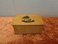 GDR Wood Casket Little Wooden Box Little Box Jewellery Box Paper Cutting Walther
