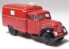 H0 BREKINA IFA Robur Garant Kofferfahrzeug Feuerwehr Lautsprecher DDR # 30712