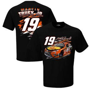 Martin Truex #19  Nascar 2021 Men's Black Fuel T-Shirt 2 Sided Size Small