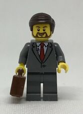 NEW GENUINE LEGO Gray Suit Businessman Briefcase Minifigure 40358 City Mini Fig