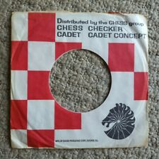 "CHESS VINTAGE 7"" COMPANY RECORD SLEEVE CHECKER CADET CONCEPT US"