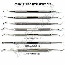 MEDENTRA® Dental Ball Burnisher Kit Smooth Amalgam Condensing Acorn Anatomy 7PCS