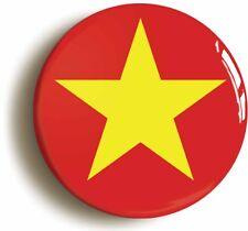 VIETNAM COMMUNIST FLAG BADGE BUTTON PIN (Size is 1inch/25mm diameter)