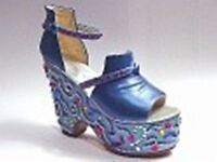 JUST THE RIGHT SHOE  Mardi Gras Blue 25216