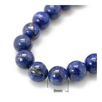 Lapis Lazuli Round Beads 8mm Blue 24+ Pcs Dyed  Gemstones DIY Jewellery Making