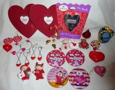 25 Hallmark Russ Gibson + Valentine'S Pins & Earrings - Kiss Red Heart Devil +