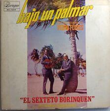 El Sexteto Borinquen de Mario Hernandez Bajo un Palmar Pedro Flores DG-1049 VG
