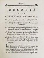 François Lavigne reçoit une Couronne civique 1791 Décret Convention Nationale