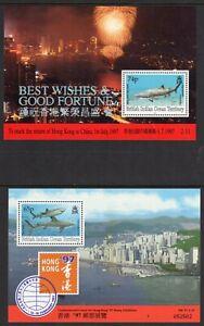 British Indian Ocean Terr. 1997 Hong Kong x 2 min. sheets fine fresh MNH