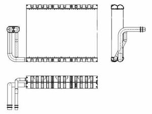 Hella A/C Evaporator fits BMW 535i xDrive 2011 92FYKX