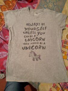 Fun Unicorn Slogan T Shirt Size 10/12 By Gildan Size 10/12 (L)