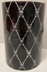 Yankee Candle Halloween Skulls Glass Double Tea Light Tealight Holder