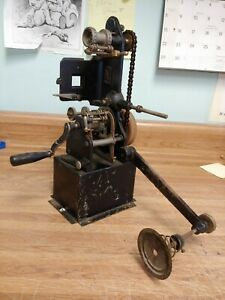 Antique 35 Mm Hand Crank Motion Picture Movie Film Projector German Bing