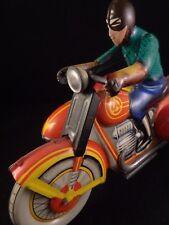 Ancien jouet mécanique tôle superbe moto side-car CCCP Russie 1960/70