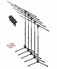 Microphone Stand with Boom Arm 5 Pack - Griffin Tripod Telescoping Studio Mic
