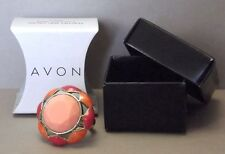 AVON Cocktail Ring Jewelry - PEACHES and CREAM Size 6 - New in Box